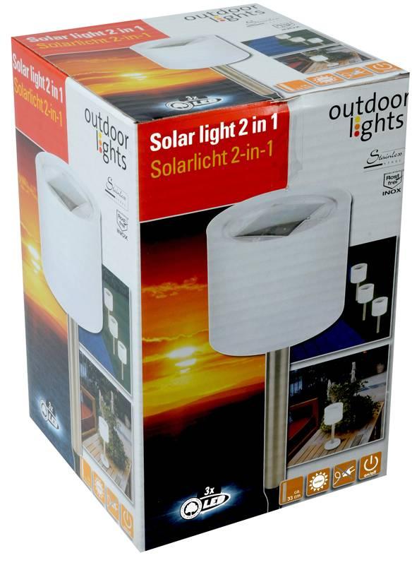 Outdoor Lights LED roestvrijstalen Solarlamp 2-in-1