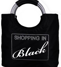"Boodschappentas ""Shopping In Black"""