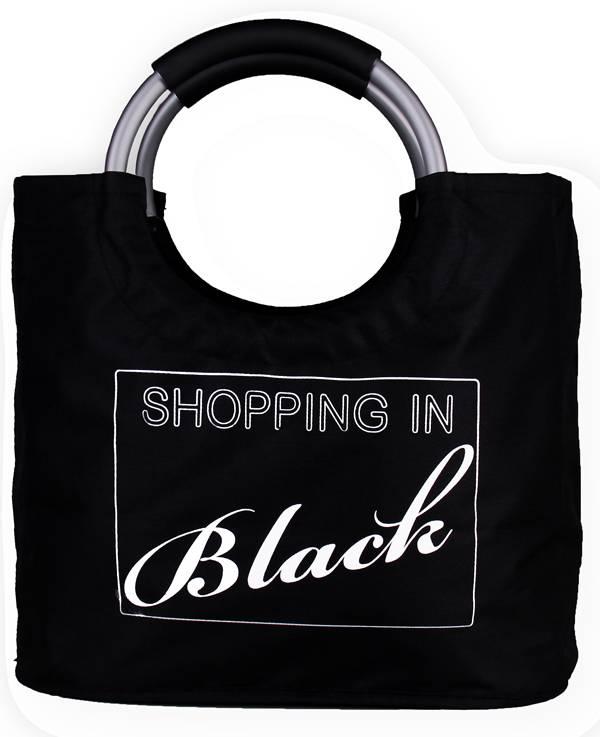 "Boodschappentas ""Shopping In Black"""