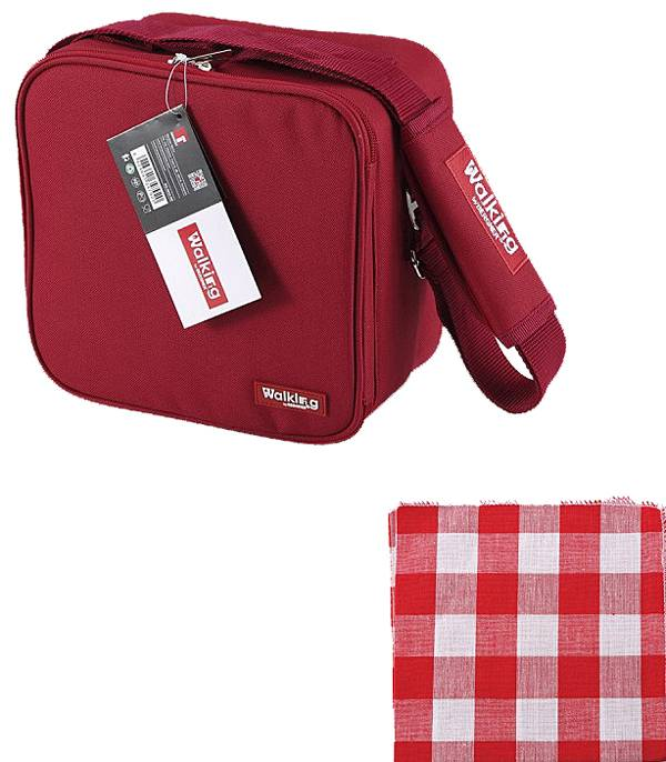 Bergner Lunchtas compleet (rood)
