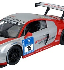 RASTAR Audi R8 LMS, radiografisch bestuurd (rood-zilver)