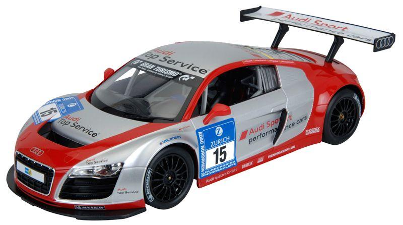 Audi R8 LMS, radiografisch bestuurd (rood-zilver)