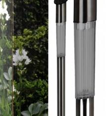 ProGarden Set van 4 roestvrijstalen solarlampen (70cm)