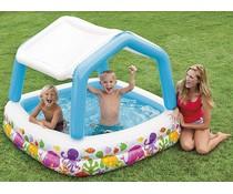 Intex Zwembad met dak (157x157x122)