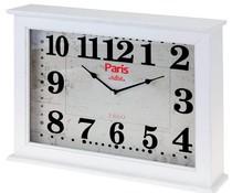 "Home & Styling Wand / tafelklok ""Paris"" 40x30x8cm  (wit)"