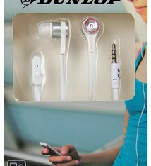 Dunlop In-ear stereo sportdopje wit