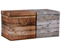Opbergbox grijs 31x31x31cm