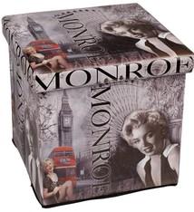 Opvouwbare poef Monroe 38x38x38cm