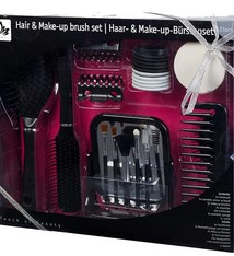Touch of Beauty Haar- en make-up borstelset  zwart