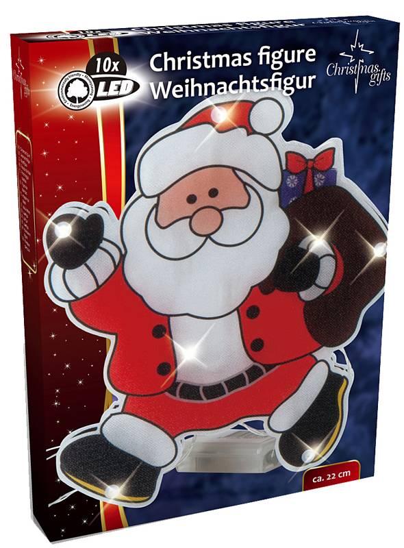 Kerstfiguur kerstman met 10 LED's