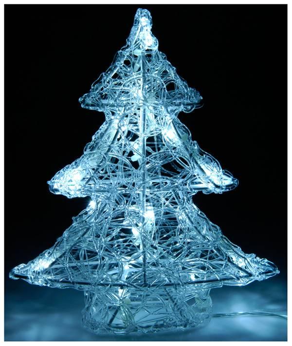 DecorativeLighting Acryl kerstboom  met 16 LED's 25cm