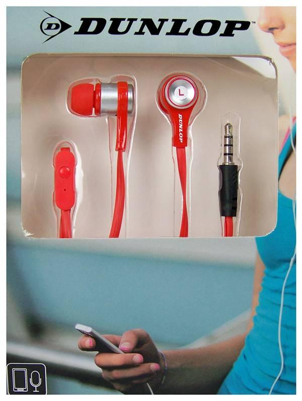 Dunlop In-ear stereo sportdopje rood