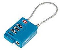 Leonardo TSA-kabelslot met 3-cijfer combinatie