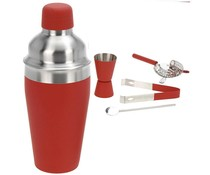 Cocktailshakerset 5 dlg rood