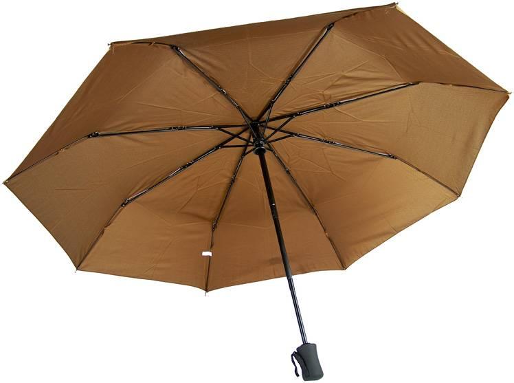 Paraplu, vol automatisch bruin
