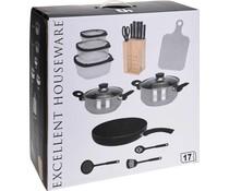 Excellent Houseware Keukenset 17 delig