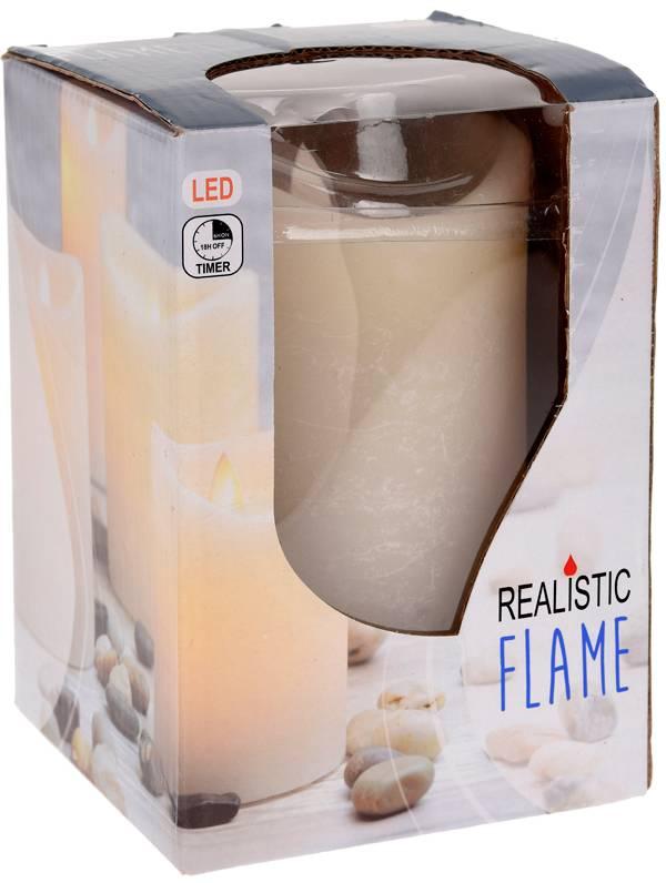 Kaars realistic flame 10x15cm