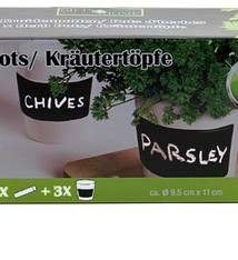 Gifts@Home Kruidenpotten set van 3