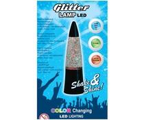 Glitterlamp kleurveranderend 15cm