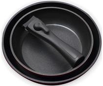 Bergner Set 2 koekenpannen met afneembaar handvat