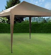 Ambiance Easy up partent luxe 3x3 meter bruin