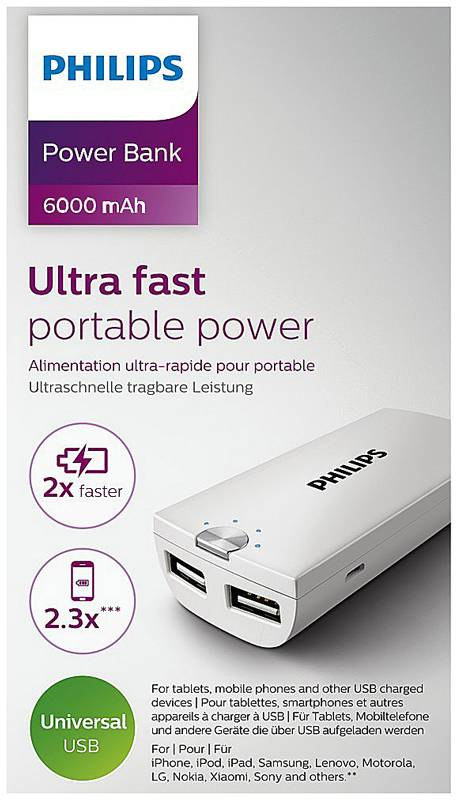 Philips DLP6002U/10 Powerbank 6000mAh