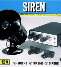 All Ride Sirene met microfoon 12V