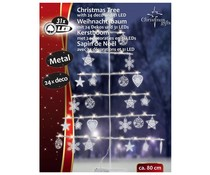 "Christmas Gifts Metalen kerstboom 80cm 31 LED""s"