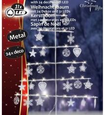 """Metalen kerstboom 80cm 31 LED""""s"""