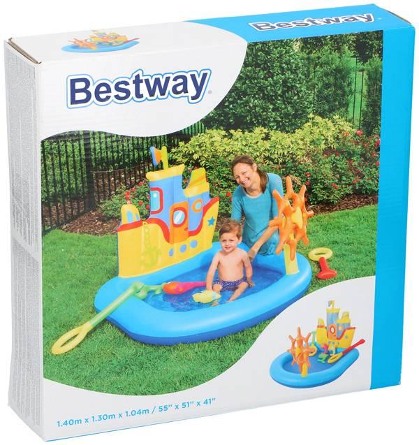 Bestway Speelzwembad sleepboot 140x130x104cm