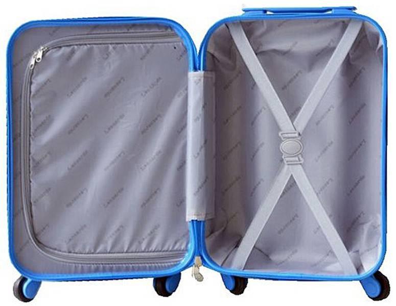 Leonardo Handbagage koffer duo-tone zilver / fuchsia