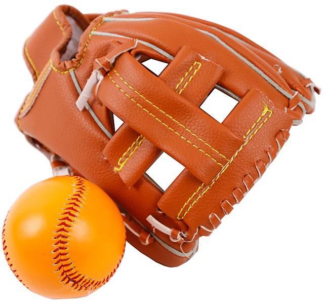 Honkbalhandschoen met bal