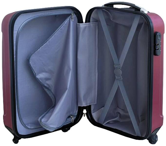 Ceruzo handbagage koffer ABS bordeauxrood