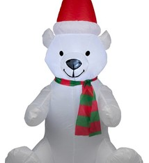 Christmas gifts Opblaasbare kerstbeer met verlichting (120cm)