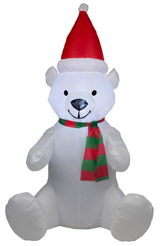 Opblaasbare kerstbeer met verlichting (120cm)