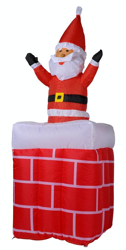 Moving up / down  Santa in schoorsteen (180cm)