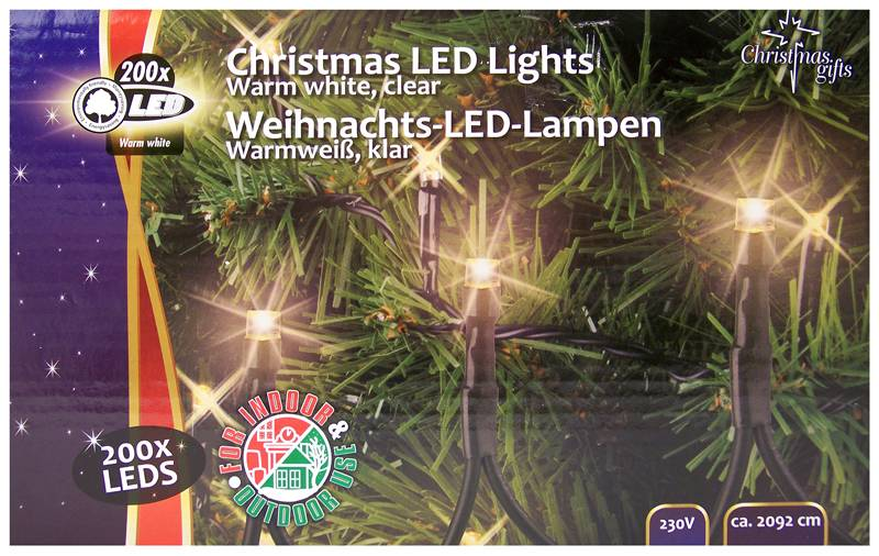 Christmas Gifts Kerstverlichting buiten 200 LED´s warmwit