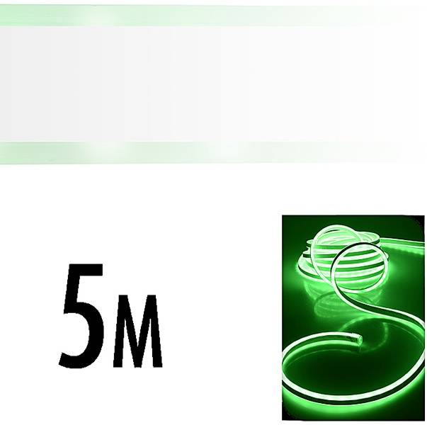LED Neonlight 5 meter groen