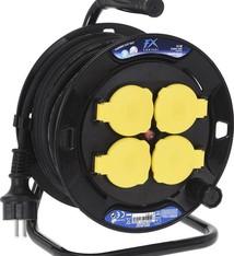 FXcontrol Kabelhaspel 15 meter Spatwaterdicht 3 x 1.5mm2
