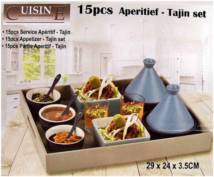 Cuisine Performance Tapas - Tajin set 15 delig