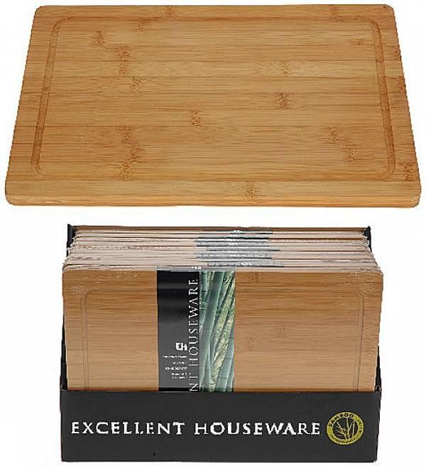 Excellent Houseware Snijplank bamboe 37 x 25 cm