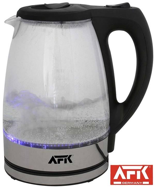 AFK Glazen Waterkoker met LED verlichting - WebwinkelGigant.com