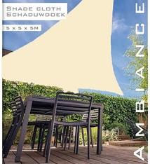 Ambiance Luxe Schaduwdoek 5x5x5 meter creme wit