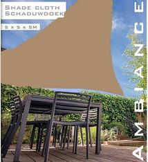 Ambiance Luxe Schaduwdoek 5x5x5 meter taupe