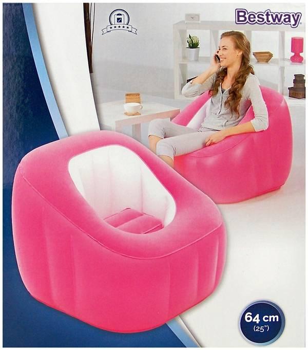 Bestway Lounge Comfi Cube roze