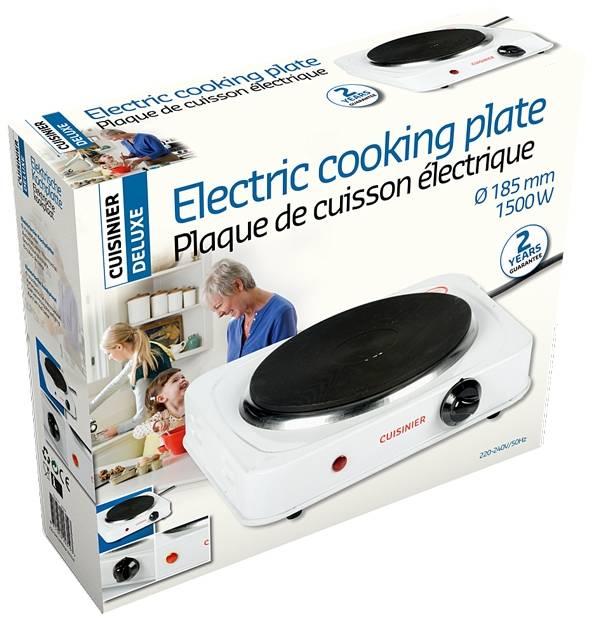 Cuisinier Deluxe Elektrische kookplaat 1500W