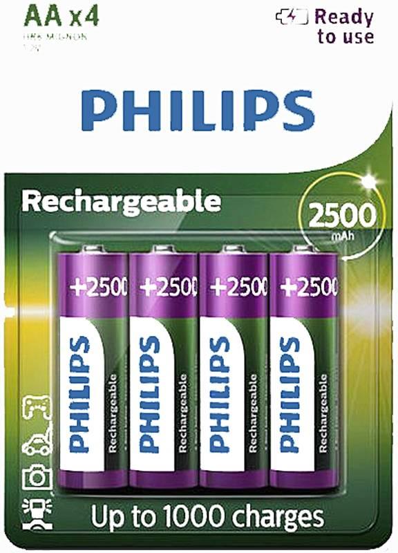 Philips 4xAA Oplaadbare batterijen