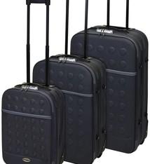 ProWorld Reiskoffers met slot 3-delig grijs