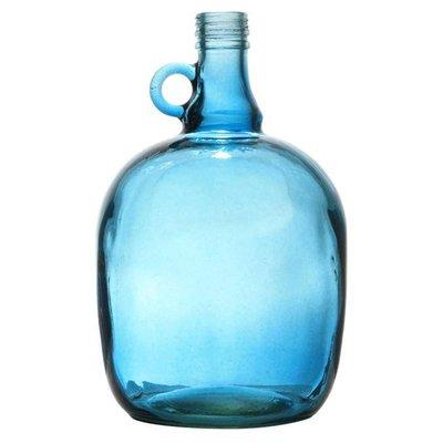 """Vaas blauw doorzichtig glas 17x27cm, """"jug 3 liter smoked blue"""""""