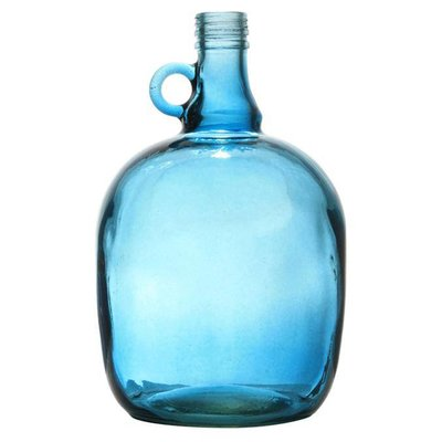 "Vase blue transparent glass 17x27cm, ""jug 3 liter smoked blue"""